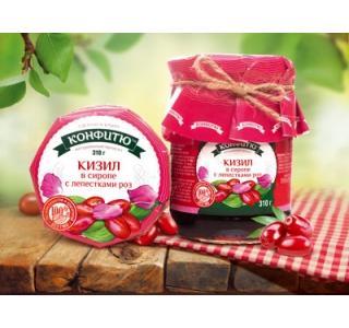 Варенье из ягод кизила с лепестками роз 310г ЦА