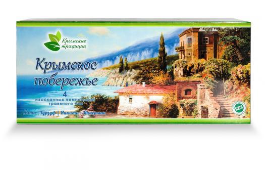 Крымское побережье Набор  4 изысканных композиций травяного чая