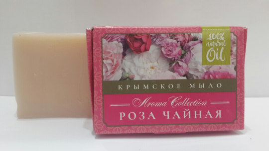 Мыло натуральное Роза чайная