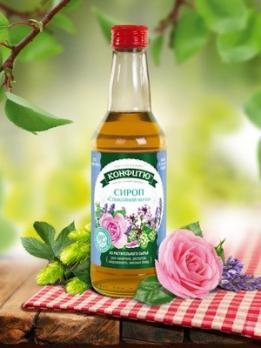"""Сироп """"Спокойной ночи"""" из  лепестков роз, шишек хмеля и целебных трав 0,25л ЦА"""