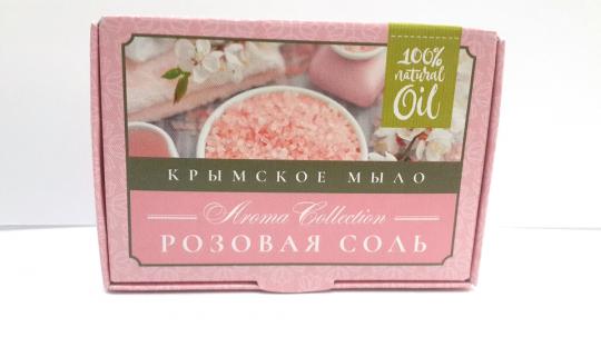 Мыло натуральное Розовая соль 50г Флора