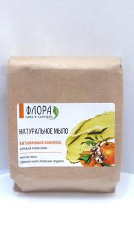 Мыло с глиной Витаминный комплекс желтая глина Флора