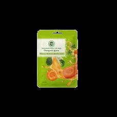 Тканевая маска для лица Брокколи, цветная капуста, морковь Крымская натуральная косметика