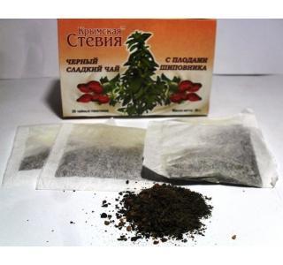 Черный чай со стевией и шиповником 30 грамм (20 ф/п)