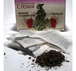 Черный чай со стевией и каркаде 30 грамм (20 ф/п)
