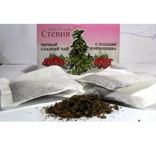 Черный чай со стевией и боярышником 30 грамм (20 ф/п)