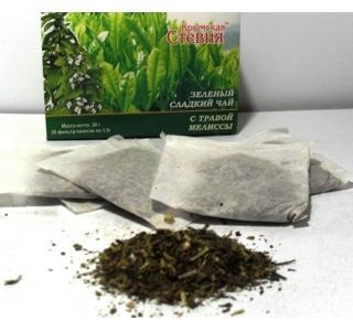 Зеленый чай со стевией и мелиссой 30 грамм (20 ф/п)